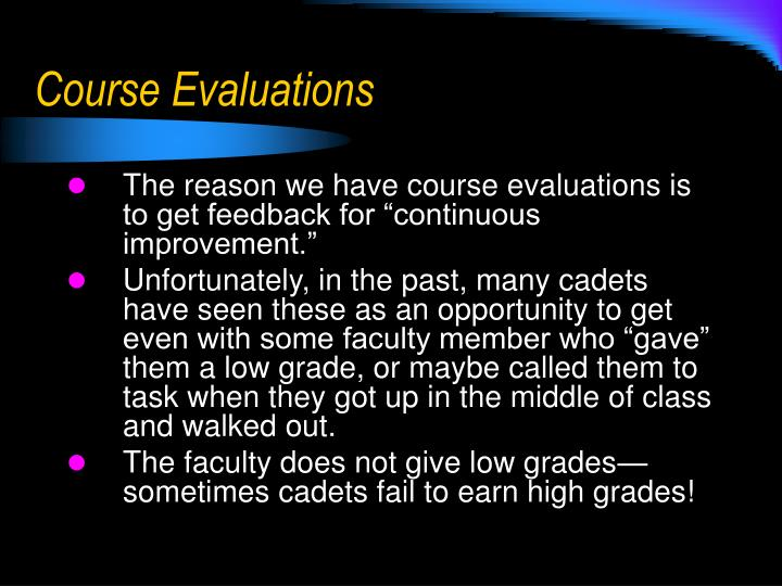 Course evaluations1
