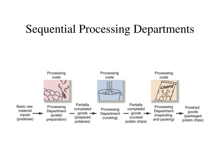 Sequential processing departments