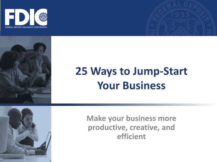 25 ways to jump start your business n.