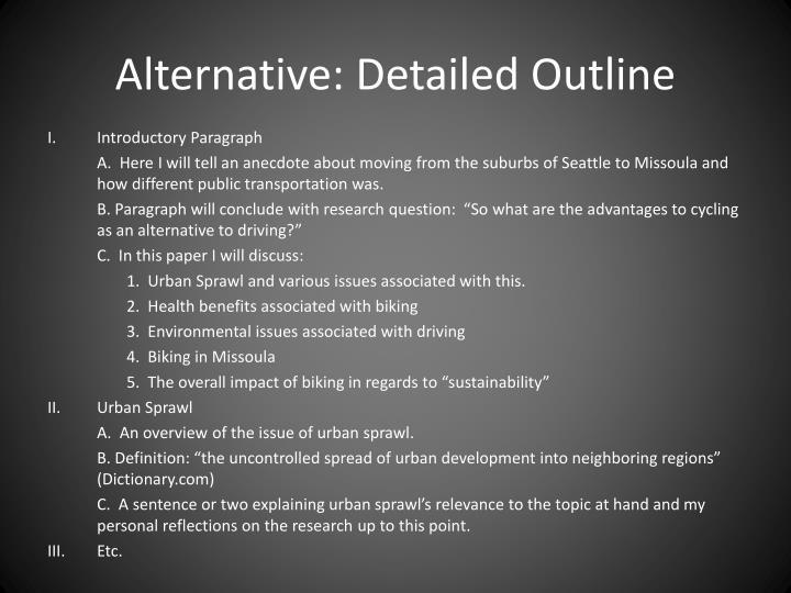 Alternative: Detailed Outline