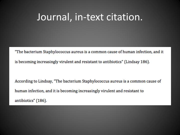 Journal, in-text citation.