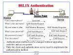 802 1x authentication