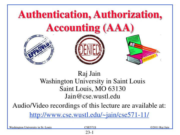 authentication authorization accounting aaa n.