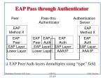 eap pass through authenticator