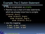 example the c switch statement 2 3