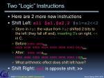 two logic instructions