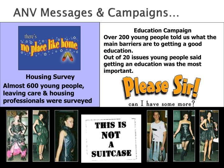 Anv messages campaigns