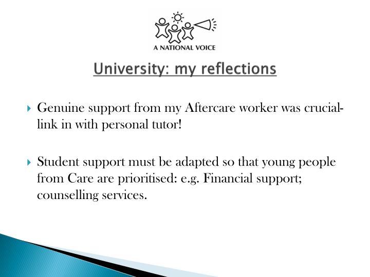 University: my reflections