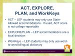 act explore plan and workkeys
