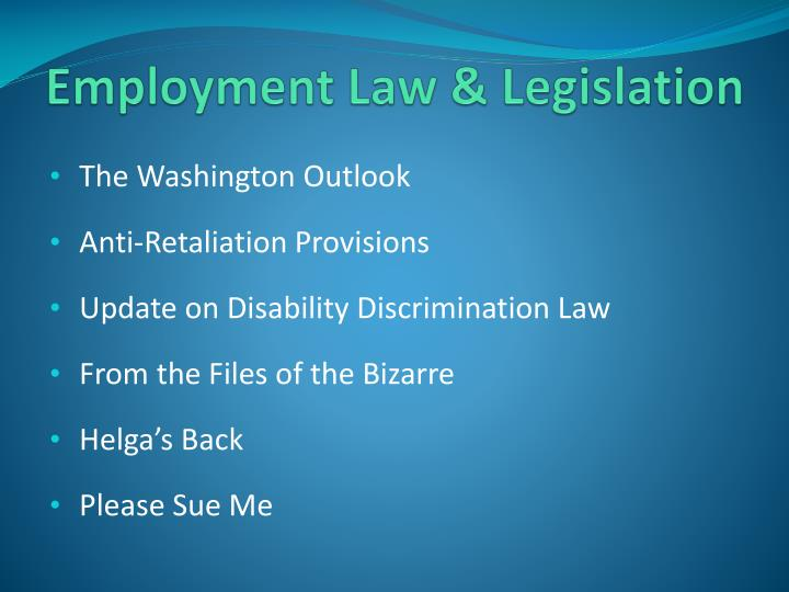 Employment Law & Legislation