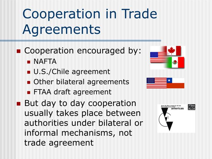 Cooperation in Trade Agreements