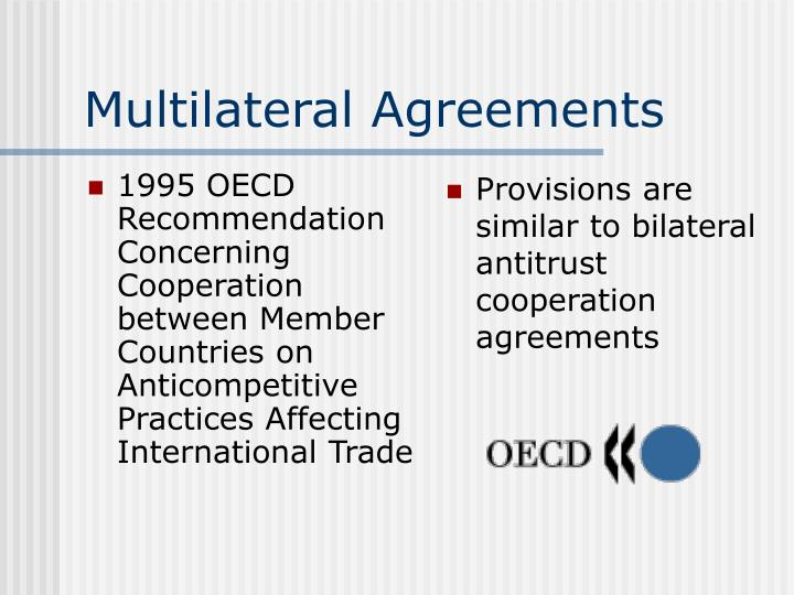 1995 OECD Recommendation Concerning Cooperation between Member Countries on Anticompetitive Practices Affecting International Trade