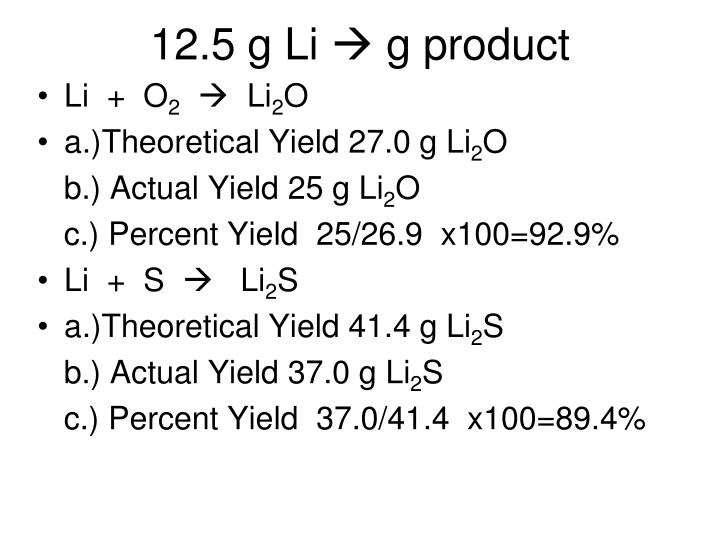 12.5 g Li