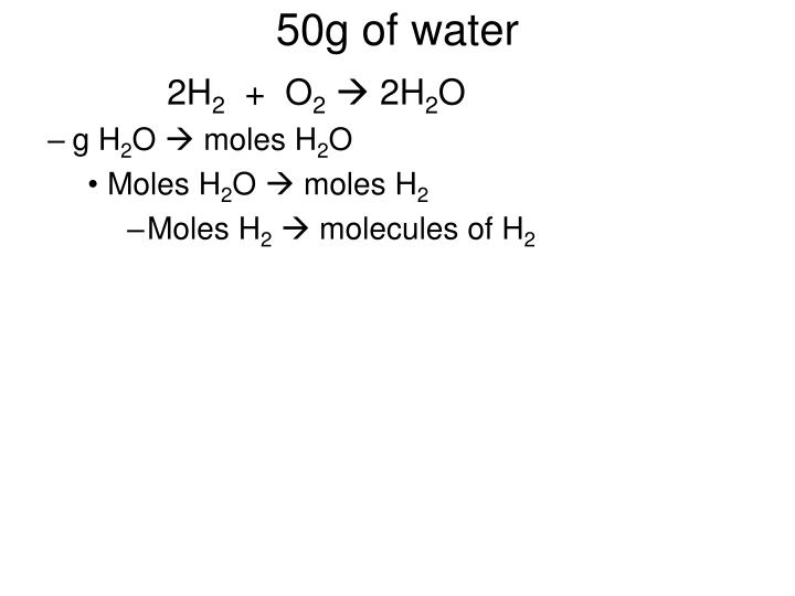 50g of water