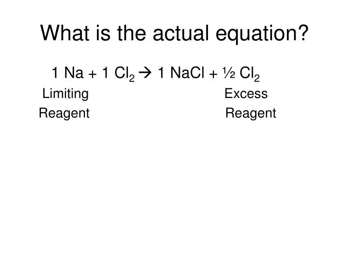 What is the actual equation?