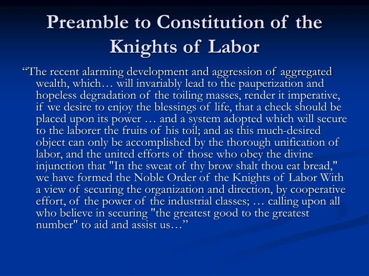 the successes and failures of the knights of labor Chicago workers during the long gilded age what were the successes and failures of workers the documents that follow include the knights of labor's.