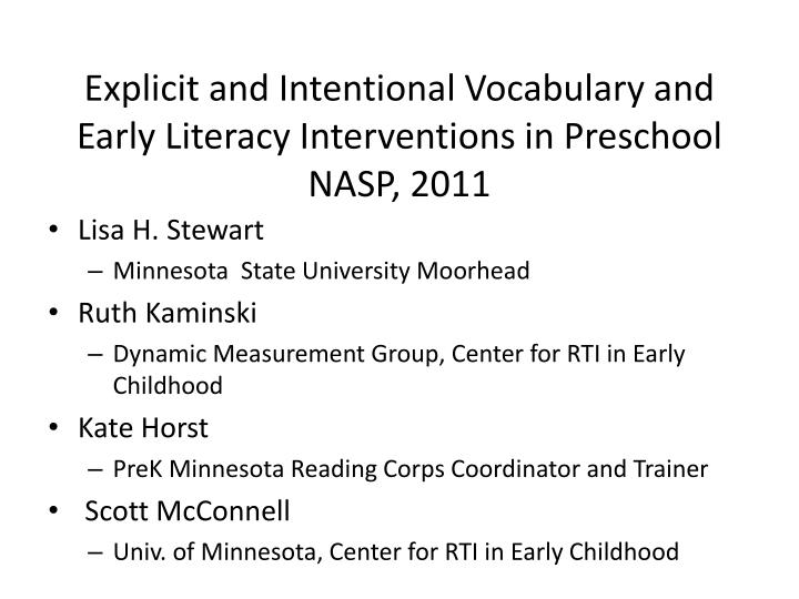 explicit and intentional vocabulary and early literacy interventions in preschool nasp 2011 n.