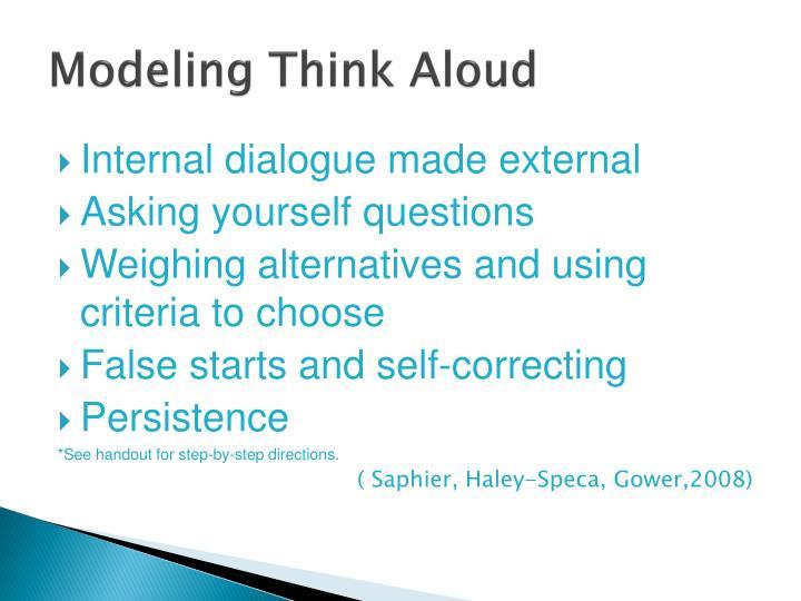 Modeling Think Aloud