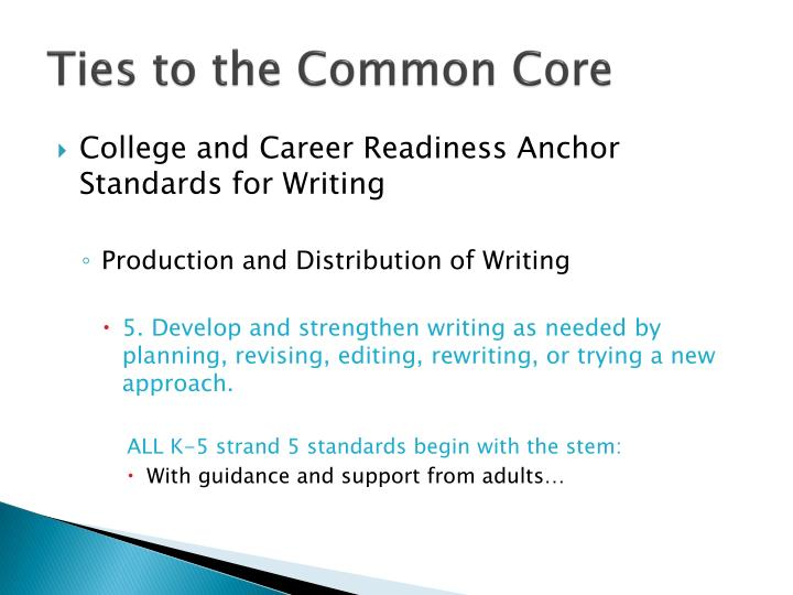 Ties to the Common Core