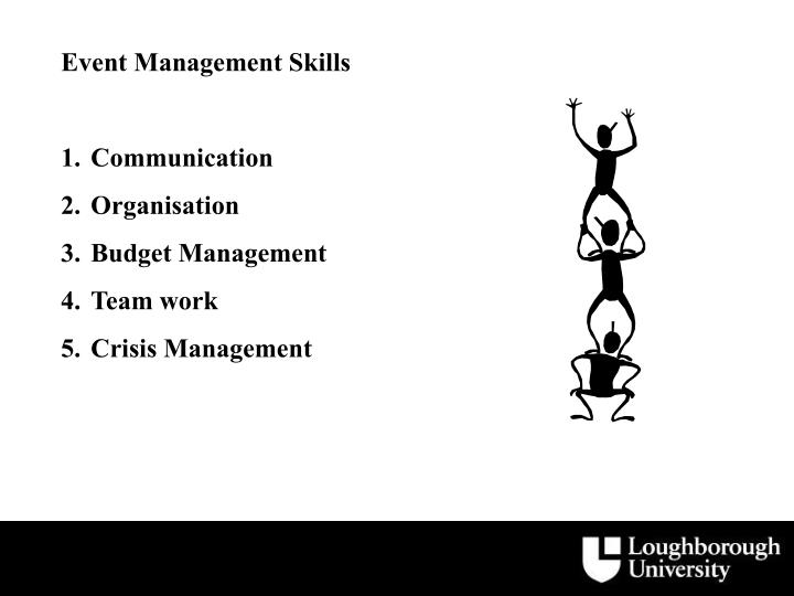 Event Management Skills