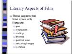 literary aspects of film
