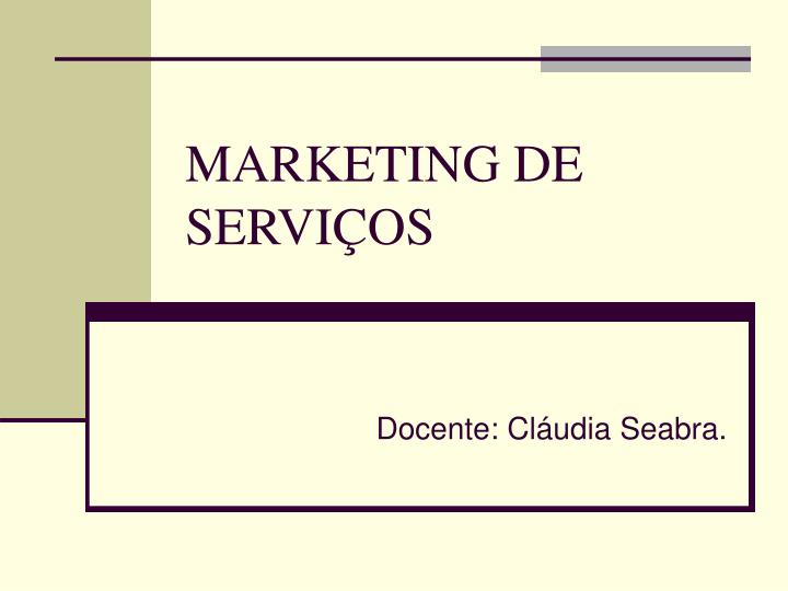 marketing de servi os n.