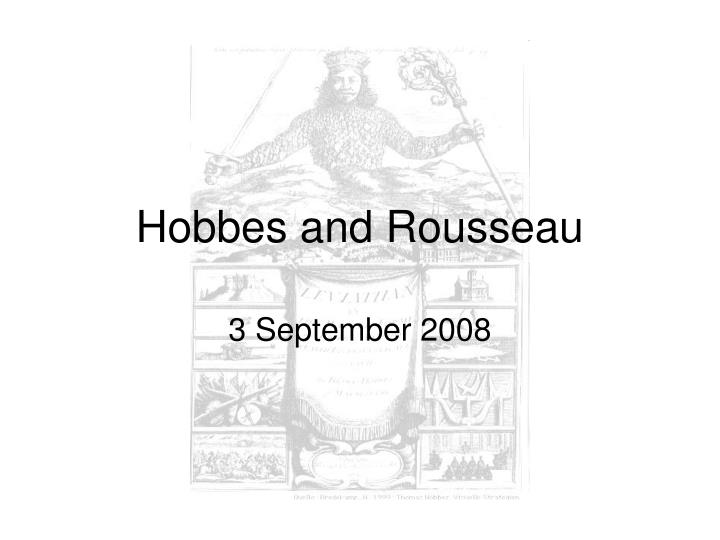 hobbes and rousseau n.
