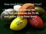 how much does a football cost