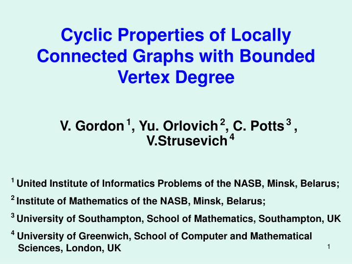 cyclic properties of locally connected graphs with bounded vertex degree n.
