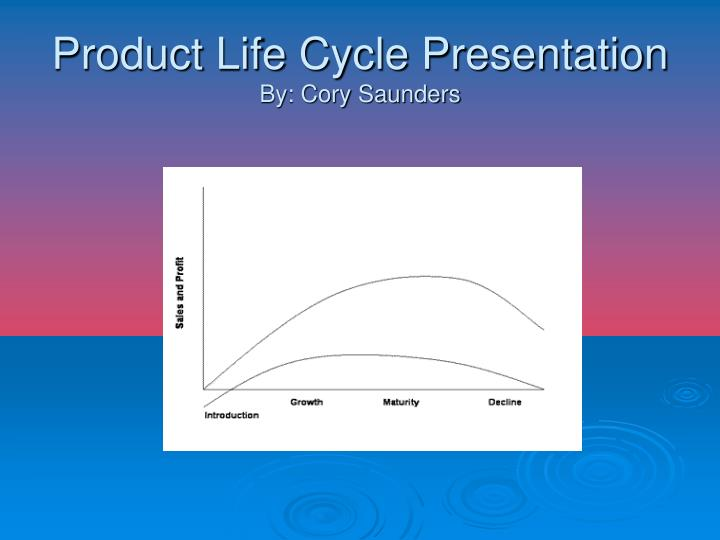 product life cycle presentation by cory saunders n.