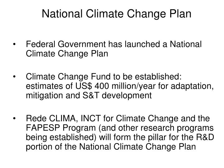 National Climate Change Plan