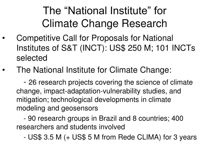 """The """"National Institute"""" for"""