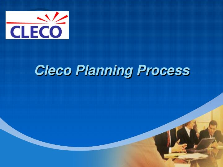 cleco planning process n.