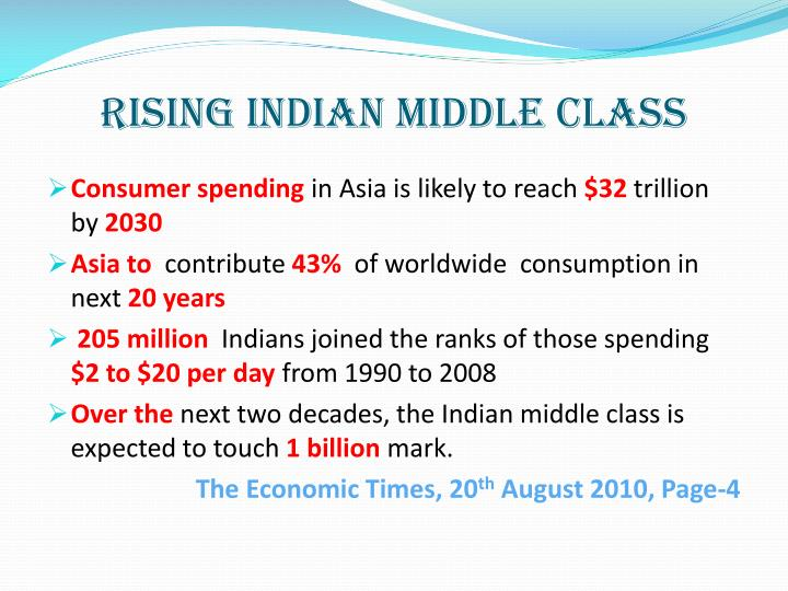 RISING INDIAN MIDDLE CLASS