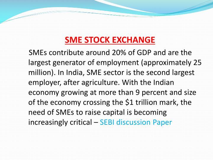 SME STOCK EXCHANGE