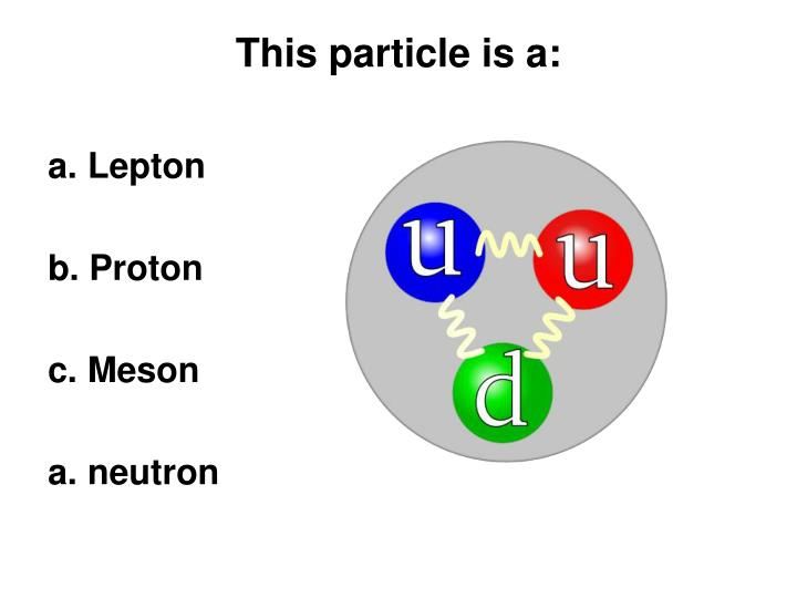 This particle is a: