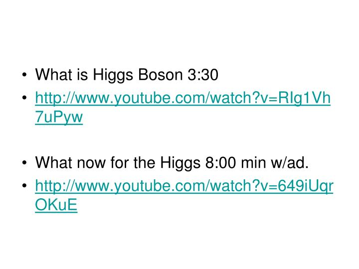 What is Higgs Boson 3:30