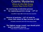 cosmic mysteries where do ultra high energy cosmic rays come from