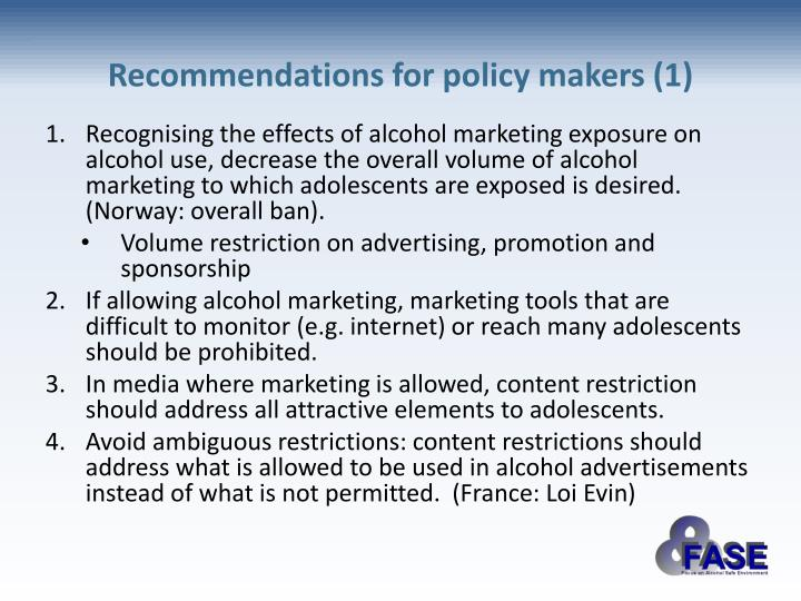 alcohol should be prohibited essay In conclusion, alcoholic advertisements should be banned the advertisements provide alcohol as an enhancement and can lead to future drinking problems for the youth for the upcoming generation, they too look like they will probably fall into these traps.