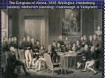 the congress of vienna 1815 wellington hardenberg seated metternich standing castlereagh talleyrand