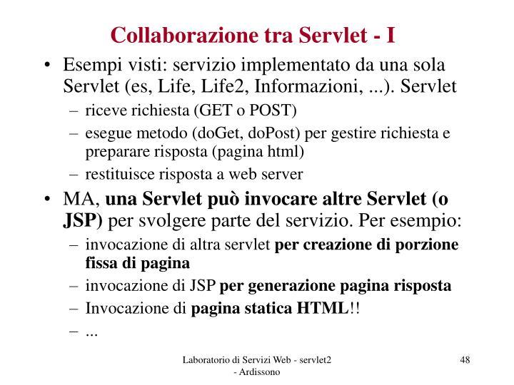 Collaborazione tra Servlet - I