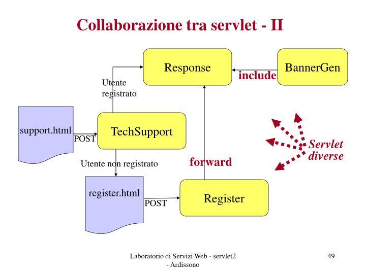 Collaborazione tra servlet - II