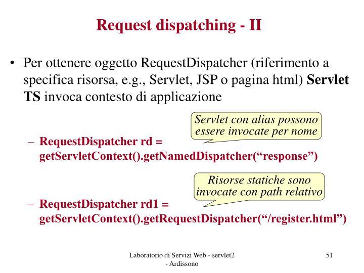 Request dispatching - II