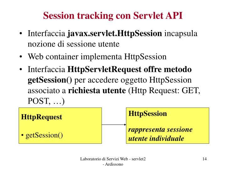 Session tracking con Servlet API