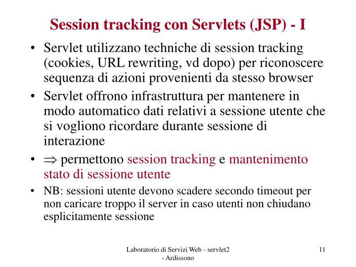 Session tracking con Servlets (JSP) - I