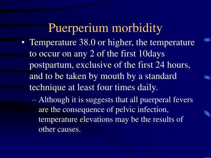 Puerperium morbidity