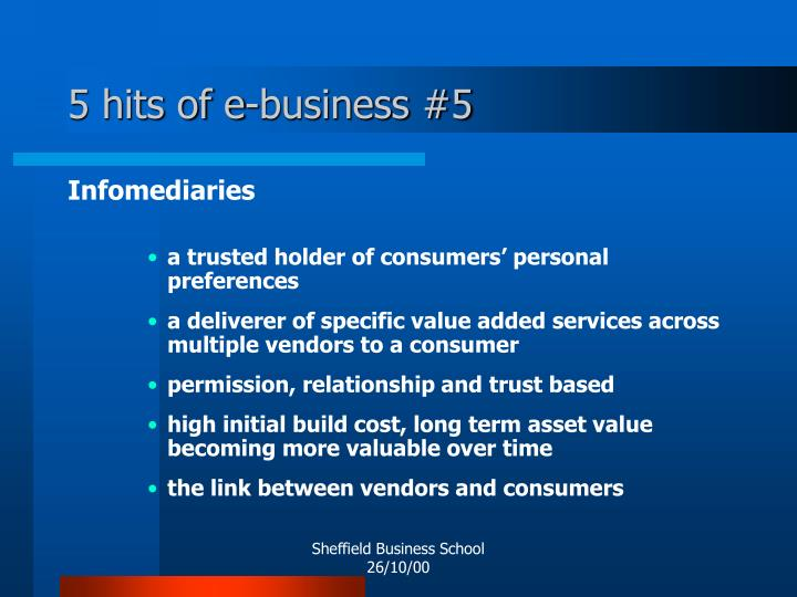 5 hits of e-business #5