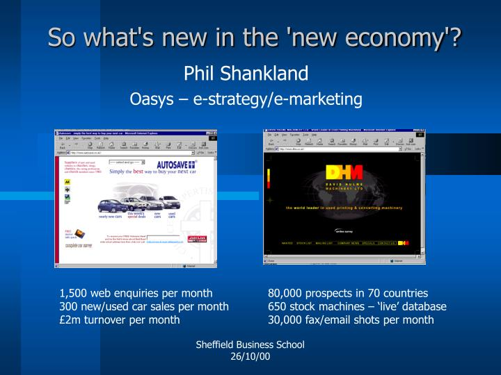 So what s new in the new economy