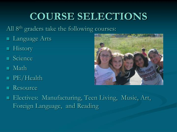 COURSE SELECTIONS