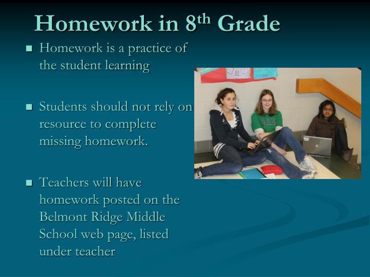 Homework in 8